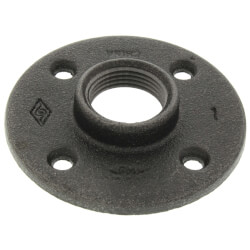 "1"" Black Floor Flange Product Image"
