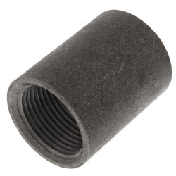 "1"" Black Steel Merchant Coupling Product Image"