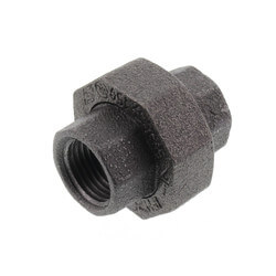 "1/2"" Black Union Product Image"