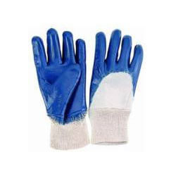 Blue Nitrile Dip Gloves (One Size Fits All) Product Image