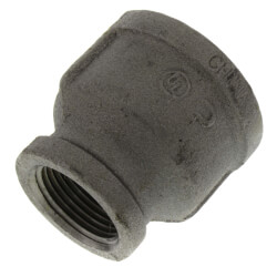 "1-1/2"" x 1""<br>Black Reducing Coupling Product Image"