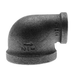 "1-1/2"" x 3/4"" Black 90° Reducing Elbow Product Image"