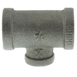 "1/2"" x 1/2"" x 1/4""<br>Black Reducing Tee Product Image"