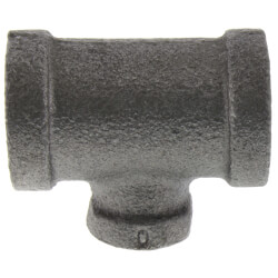 "3/8"" x 3/8"" x 1/8""<br>Black Reducing Tee Product Image"