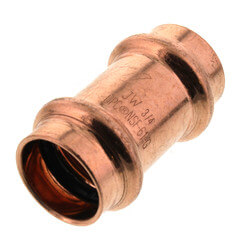 "3/4"" Press Copper Coupling, No-Stop Product Image"