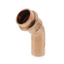 "1/2"" FTG x Press Copper 45° Street Elbow Product Image"
