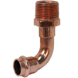 """3/4"""" Press x Male Copper 90° Elbow Product Image"""