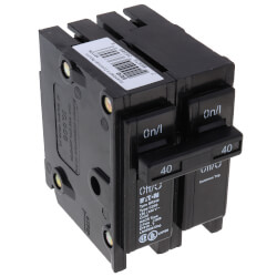 2-Pole BR Thermal Magnetic Circuit Breaker (40A, 120/240V) Product Image