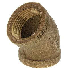 """1"""" FIP x FIP 45° Brass Elbow (Lead Free) Product Image"""