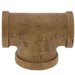 "1/2"" x 1/2"" x 3/4"" Bull Head Brass Tee (Lead Free) Product Image"