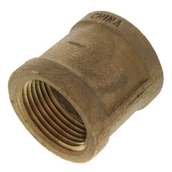 "1"" FIP Brass Coupling (Lead Free) Product Image"