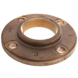 """3"""" FNPT Brass Companion Flange, 150 psi (Lead-Free) Product Image"""
