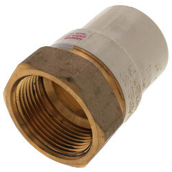 """1-1/4"""" CPVC x Female Brass Adapter (Lead Free) Product Image"""
