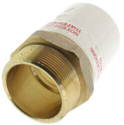 """2"""" CPVC x Male Brass Adapter (Lead Free) Product Image"""