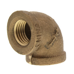 "1/4"" FIP x FIP Brass Elbow (Lead Free) Product Image"