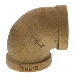 """3/4"""" FIP x FIP Brass Elbow (Lead Free) Product Image"""