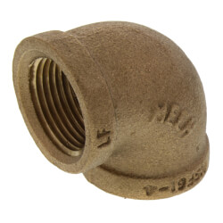 "3/4"" FIP Brass 90° Elbow (Lead Free) Product Image"