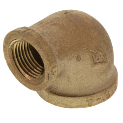 "1"" x 1/2"" FIP x FIP Brass Elbow (Lead Free) Product Image"