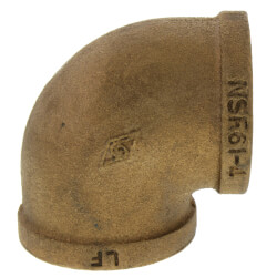 """1-1/4"""" FIP x FIP Brass Elbow (Lead Free) Product Image"""