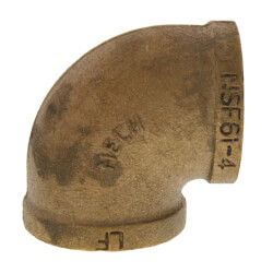 """1-1/2"""" FIP x FIP Brass Elbow (Lead Free) Product Image"""