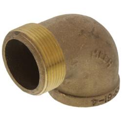 "1-1/2"" Threaded Brass<br>90 Deg Street Elbow<br>(Lead Free) Product Image"