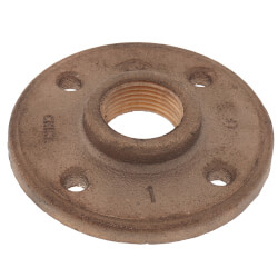 "1"" Brass Floor Flange w/ Holes (Lead-Free) Product Image"