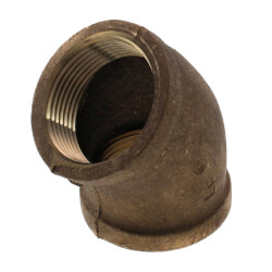 "1-1/4"" 45° Brass Elbow (Lead Free) Product Image"
