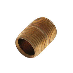 "1/2""x Close Brass Nipple (Lead Free) Product Image"
