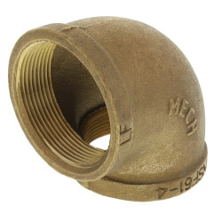 "2"" Brass 90° Elbow (Lead Free) Product Image"