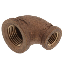 """1/2"""" x 3/8"""" Reducing 90° Brass Elbow (Lead Free) Product Image"""