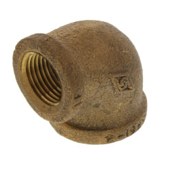"1/2"" x 3/8"" Reducing 90° Brass Elbow (Lead Free) Product Image"