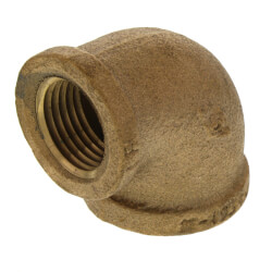 """3/4""""x 1/2"""" FIP x FIP Brass Elbow (Lead Free) Product Image"""