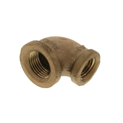 """3/8"""" x 1/4"""" Reducing 90° Brass Elbow (Lead Free) Product Image"""
