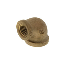 "3/8"" x 1/4"" Reducing 90° Brass Elbow (Lead Free) Product Image"