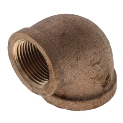 "1-1/2"" x 1"" Reducing 90° Brass Elbow (Lead Free) Product Image"