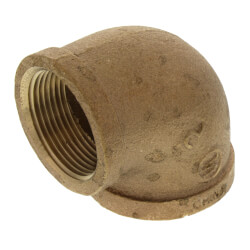 "1-1/2"" x 1-1/4"" Reducing 90° Brass Elbow (Lead Free) Product Image"