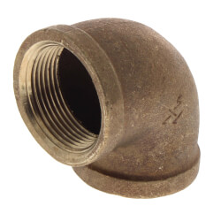 "1-1/4"" x 3/4"" Reducing 90° Brass Elbow (Lead Free) Product Image"