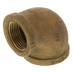 "1-1/4"" x 1"" Reducing 90° Brass Elbow (Lead Free) Product Image"