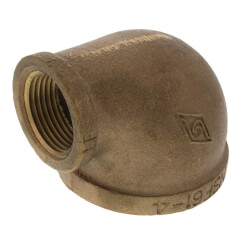 "2"" x 1"" Reducing 90° Brass Elbow (Lead Free) Product Image"