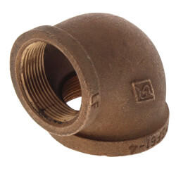 "2"" x 1-1/2"" Reducing 90° Brass Elbow (Lead Free) Product Image"