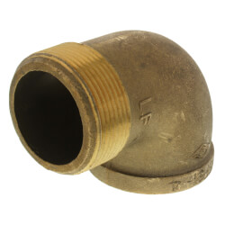 """2-1/2"""" Brass 90° Street Elbow, Lead Free (Threaded) Product Image"""