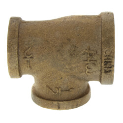 "3/4""x 1/2""x 1/2"" FIP Brass Tee (Lead Free) Product Image"