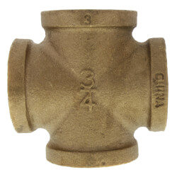 "3/4"" Brass Cross (Lead Free) Product Image"