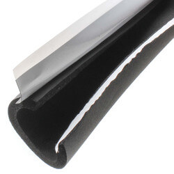 """1-1/8"""" Pipe (O.D.) x 3/8"""" AP Armaflex Black Lap Seal Pipe Insulation, 6' Product Image"""