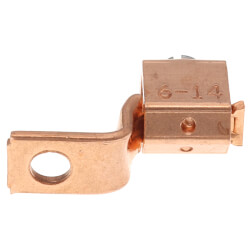 Copper Single-Conductor, One-Hole Mount Lug w/ Offset Tang, 14 AWG-6 Str Product Image