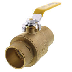 "1-1/4"" Full Port Sweat Ball Valve (Lead Free) Product Image"