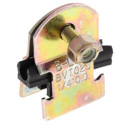 """1/4"""" OD Electro-Galvanized Strut Cushion Clamp Product Image"""