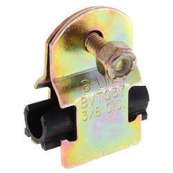 """3/8"""" OD Electro-Galvanized Strut Cushion Clamp Product Image"""