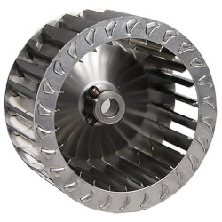 """Stainless Steel Blower Wheel (4"""" Diameter, 3/8"""" Bore, CW) Product Image"""
