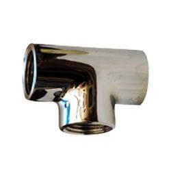 "3/8"" Chrome Brass Tee (Lead Free) Product Image"